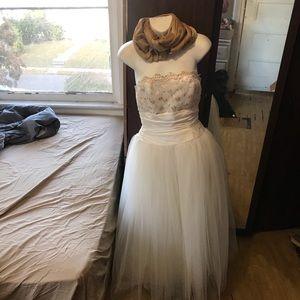 Vtg Gunne Sax Jessica McClintock Dress W/ Scarf
